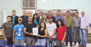 Câmara envia Ofício à Prefeitura Municipal pedindo incentivo a equipe de Vôlei do Município.